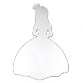 Maseliving spejl prinsesse egetræ