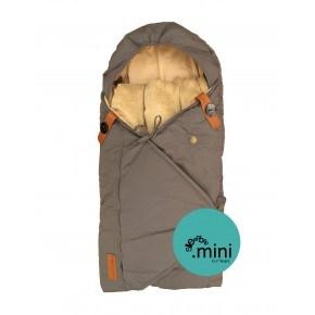 Sleepbag mini kørepose - Grå / Brun