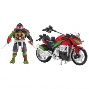 Turtles - Raphael med motorcykel