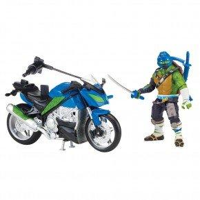 Turtles - Leonardo med motorcykel