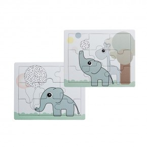 Done by Deer - Puzzle, Elphee and Raffi, 2 pcs. - Puslespil