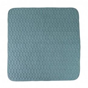 Sebra Quiltet tæppe - Himmelblå