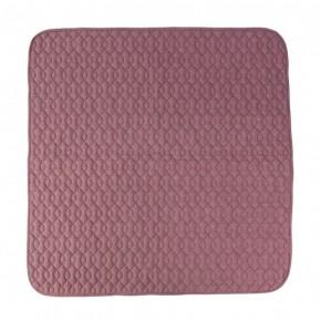 Sebra Quiltet tæppe - vintage rosa