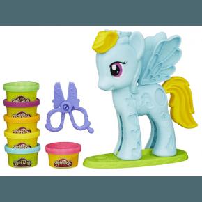Play-Doh Modellervoks, style salon - Rainbow