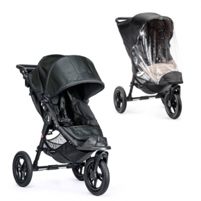 Baby Jogger City Elite Single - Titanium + Regnslag