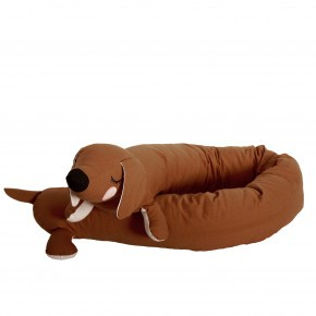 Roommate Lazy Long Dog pude - brun