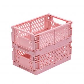 Tiny Republic 2 stk. Foldekasser Large - rosa