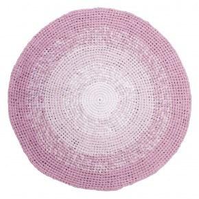 Sebra Hæklet gulvtæppe - Rose rose