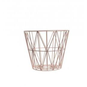 Ferm Living Wire Basket - Rosa - Large