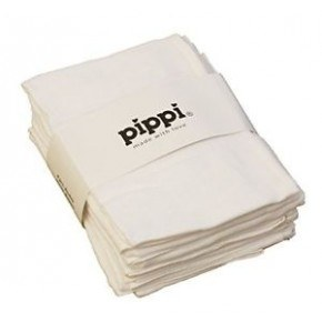Hvide 8-pak 70X70 stofbleer - Pippi