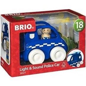 BRIO - Politibil m/lys og lyd