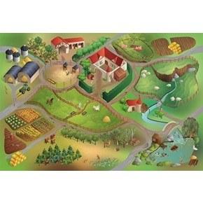 HOK Tæppe Latex 100X150 - Farm
