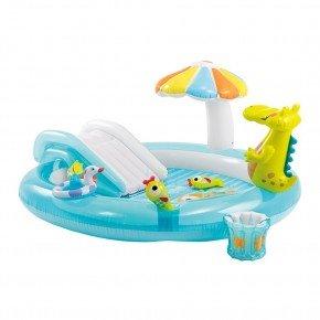 Intex Soppe pool m. rutsjebane og solskygge