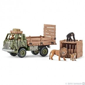 SCHLEICH Safari Animal Rescue Truck Plastfigur