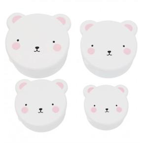 A Little Lovely Company Snack Box - Bear Pink
