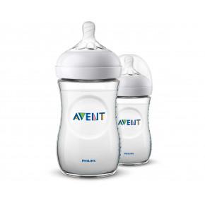 Philips Avent Natural 2 stk. sutteflasker - 260 ml.