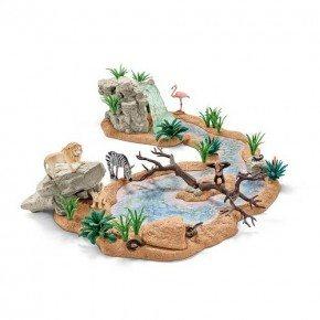 SCHLEICH dyr ved vandhullet
