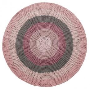 Sebra hæklet gulvtæppe - Rose