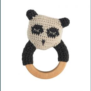 Sebra hæklet rangle på træring - Panda