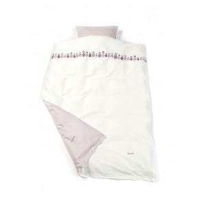 Smallstuff Juniorsengetøj med babushkamotiv - Hvid