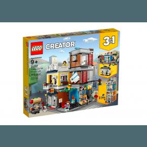 LEGO Creator Byhus med dyrehandel og café - 31097
