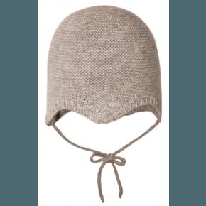 mp Denmark strikket hue i uld - Light Brown Marled