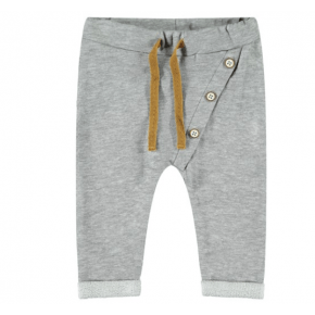 Name It bukser i økologisk bomuld - grey melange