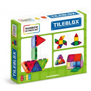 Tileblox Rainbow 20 set - Konstruktionssæt