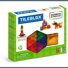 Tileblox Rainbow 30 set w/magnetic board - Konstruktionssæt