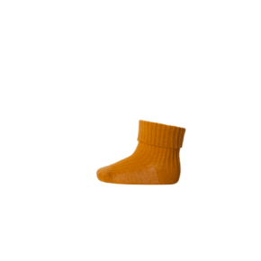 mp Denmark strømper i bomuldsrib - golden spice