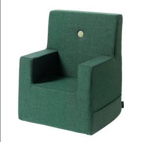 By KlipKlap Kids Chair XL - Mørk Grøn m Grøn Knap