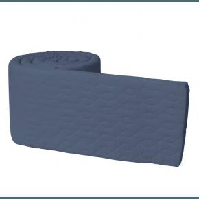Sebra sengerand quiltet - denim blue
