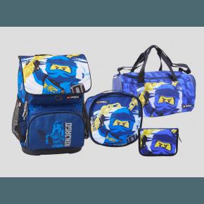 LEGO Ninjago Jay optimo skoletaske m. penalhus, gymnastiktaske og sportstaske - blå