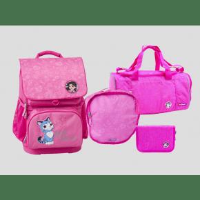 LEGO Friends Emma optimo skoletaske m. penalhus, gymnastiktaske og sportstaske - pink