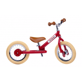 TRYBIKE Vintage Balancecykel 2 hjul - Rød