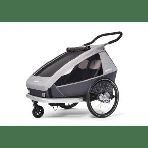 CROOZER Kid Keeke 2 cykelanhænger 2020 - stone grey