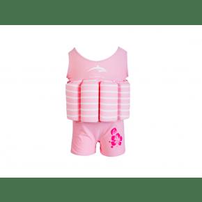 Konfidence flydedragt - pink stripe