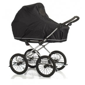 BabyDan Regnslag m. net til barnevogn - sort