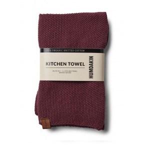 HUMDAKIN Knitted Tea Towel – Violet Plumb