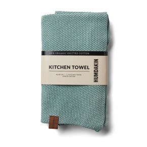 HUMDAKIN Knitted Tea Towel – Dusty Green