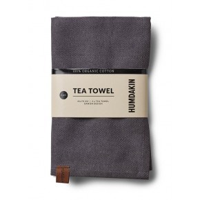 Humdakin Organic Tea Towels, 2-pack - Dark Ash