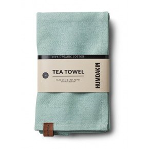 HUMDAKIN Organic Tea Towels, 2-pack - Dusty Green