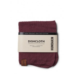 HUMDAKIN Knitted dishcloth – Violet Plumb