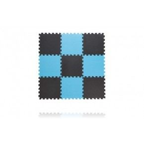 BABY DAN Legegulv, tykt skum 30x30 cm, Grå/blå Legegulv