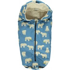 Småfolk sove/kørepose - isbjørne