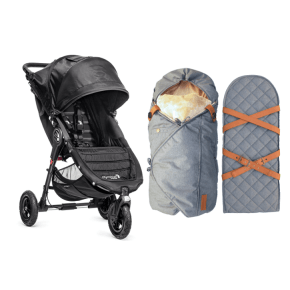 Baby Jogger City Mini GT Single - Sort Klapvogn + Sleepbag