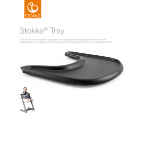 Tripp Trapp Tray - Black Tilbehør til højstol