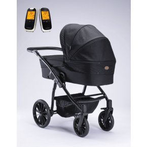 Arden Denmark Supreme Plus barnevogn sort + Neonate babyalarm 6500