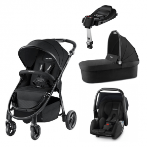 Recaro Citylife klapvogn inkl. lift og Privia Evo autostol inkl Smart-Click base - Sort