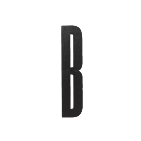 Design Letters Black wooden letters - B